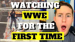 MMA FAN REACTS TO WWE FOR THE FIRST TIME (brutal...)