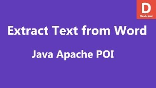 Java Apache POI Extract Text from Word Document