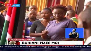 Rais Mstaafu Mwai Kibaki ajitokeza katika majengo ya Bunge kutoa heshima za mwisho