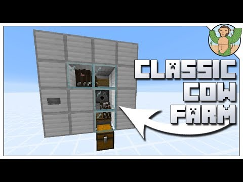 Cow breeding farm minecraft