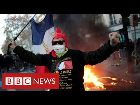Clashes in Paris as thousands protest against racism and police violence - BBC News