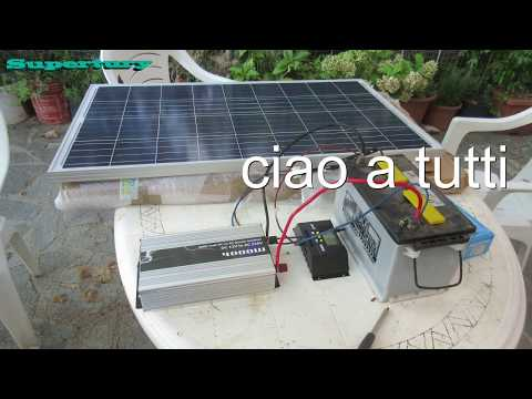 impianto fotovoltaico 12v 220v economico fai da te