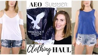 American Eagle Outfitters Summer Clothing HAUL | Try-on