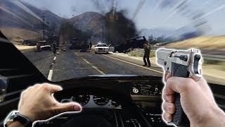 INSANE HIGHWAY POLICE CHASE - GTA 5 VR