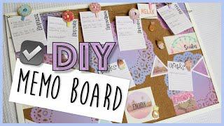 How-to Make A Memo Cork Board DIY | Easy School DIY