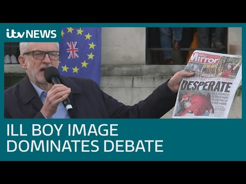 Boris Johnson reluctant to look at photo of boy, four, sleeping on hospital floor | ITV News