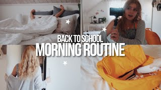 BACK TO SCHOOL MORNING ROUTINE 2018 | vlog style