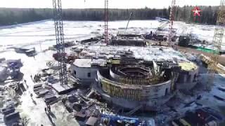 Как строится Главный храм ВС РФ: видео с коптера