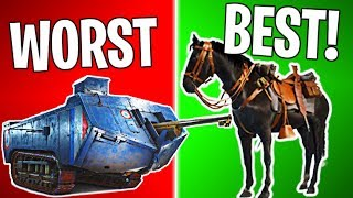RANKING EVERY VEHICLE IN BF1 FROM WORST TO BEST! | Battlefield 1