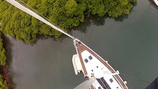 Tying Sailboat in Mangrove for a Hurricane - Not for Irma!