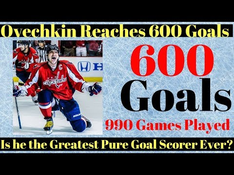 Alex Ovechkin 600 Goals - Can he catch Gretzky?