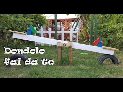 Giochi in legno da giardino fai da te, facciamo un Dondolo