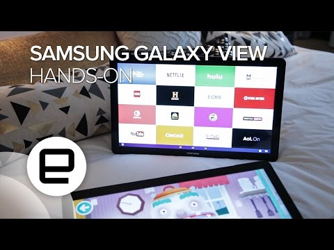Samsung Galaxy View Hands-on
