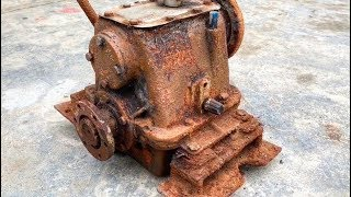 Restoration Gearbox Giant old | Reuse antique gearboxes | Rusty speed recovery system