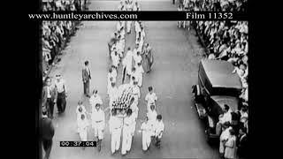 Funeral of Child Victim of Gangsters 1931.  Archive film 11352