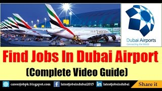 Dubai Airport Jobs 2019 And Careers For Freshers And Experienced