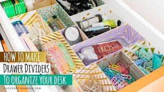 DIY Drawer Dividers For Desk Organizing (Tips And Tricks)
