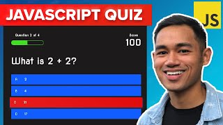 How to Make a Quiz App using HTML CSS Javascript - Vanilla Javascript Project for Beginners Tutorial