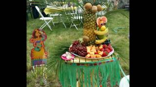 Pineapple Tree For Fruit Display And Fruit Monkey