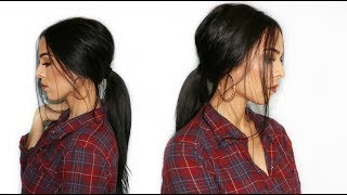 Messy Ponytail With Extensions