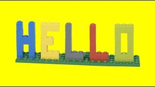 How To Make LEGO LETTERS 'HELLO'! Easy LEGO Building Instructions LEGO Academy DIY Tutorial