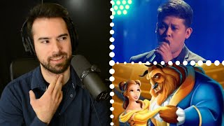 Marcelito Pomoy FINALS AGT Vocal Coach Reacts Beauty and The Beast