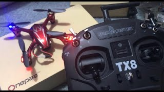 Radio Master TX8 how to bind Hubsan Drone h107c WINTER FLIGHT REVIEW