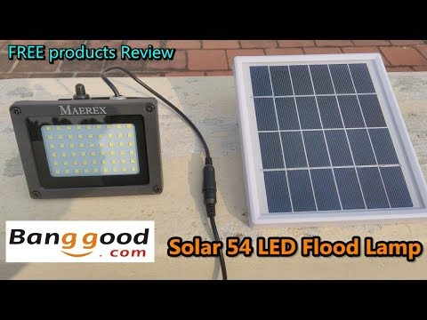 Solar Powered 54 LED Sensor Flood Light Waterproof Outdoor Lamp