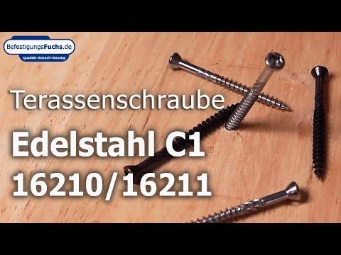 Terrassenschrauben - Edelstahl C1 - Linsensenkkopf - Torx - blank und antik
