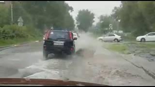 Последствия дождя на Котовского