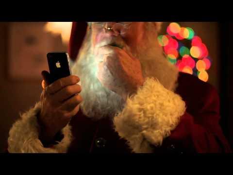 apple iphone 4s siri helps santa iphone christmas commercial - Christmas Apple Commercial