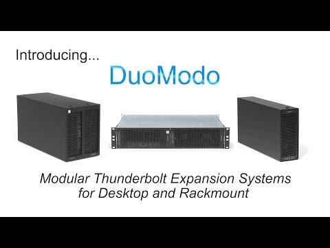 DuoModo Modular Thunderbolt Expansion Systems for Desktop and Rackmount