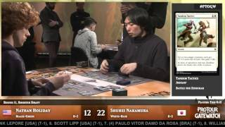 Pro Tour Oath of the Gatewatch Round 11 (Draft): Nathan Holiday vs. Shuhei Nakamura