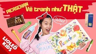 Picaschan và cuốn sổ thần kì - Vẽ đồ dùng học tập bằng...cái lược - Tranh vẽ hay đồ thật?