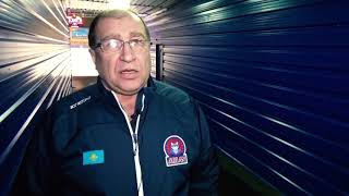 Владимир Капуловский после четвертого матча серии «Темиртау» - «Арлан»