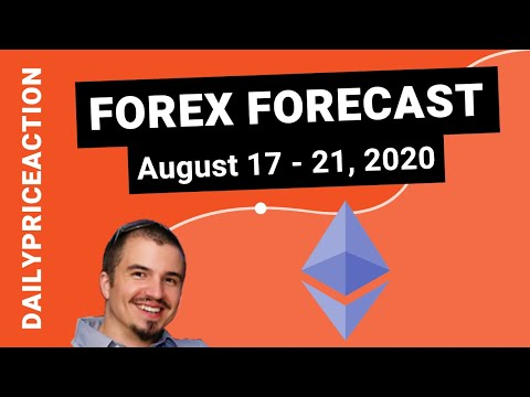 Weekly Forex Forecast for EURUSD, GBPUSD, NZDUSD, XAUUSD, ETHUSD (August 17 – 21, 2020
