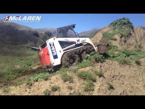 McLaren Оver-Тhe-Тire tracks on Bobcat 743 Skid Steer Loader