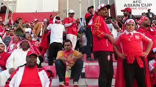 Supporters of Bahrain during the game against South Korea at the AFC Asian Cup UAE 201a