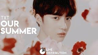 TXT (투모로우바이투게더) — Our Summer   Line Distribution