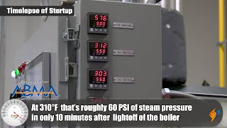 Getting the Steam System Up to Pressure Quickly with a Vapor Power Boiler