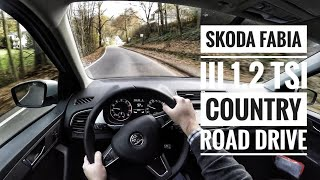Skoda Fabia III 1.2 TSI (2017) - POV Country Road Drive