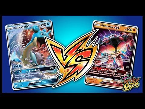 Lapras GX vs Buzzwole GX / Lycanroc GX – Pokemon TCG Online Gameplay
