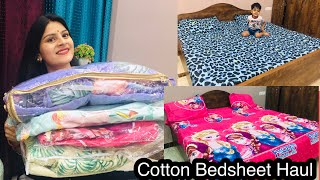 100% Cotton Bedsheets Collection Starting @399RS