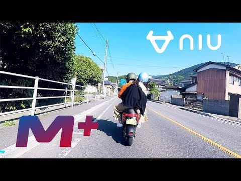 【電動バイク】niu M+の二人乗り走行シーン