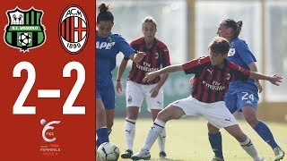 Highlights Sassuolo 2-2 AC Milan - Matchday 3 Women Serie A 2018/19