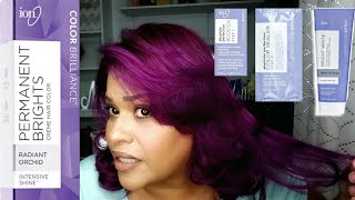 How I Bleach My Roots And Change Hair Color L Ion Permanent Brights Radiant Orchid L Marylin Morales