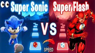 Sonic the HedgeHog Song VS The Flash Song - Tiles Hop Edm RUSH!