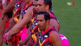 An Indigenous War Dance Before #AFLX Kicks Off
