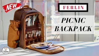 Picnic Backpack ❤️   for 4 people  - Review          ✅