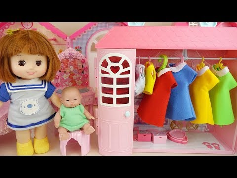 Baby doll princess dress room and house play baby Doli house